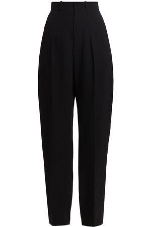 ST. JOHN Women's Heavy Georgette Front Pleat Pants - - Size 16