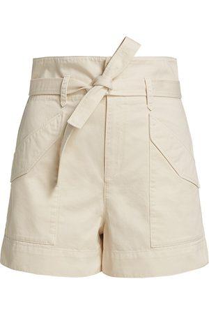 RAG&BONE Women Sports Shorts - Women's Field Cargo Shorts - Ecru - Size 28