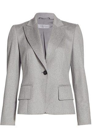 Max Mara Women's Rey Cashmere Blazer - Grey - Size 12