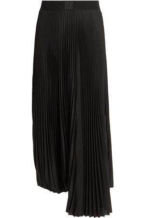 Givenchy Women's Pleated Logo Waistband Skirt - - Size 6