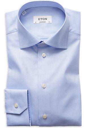 Eton Men Business - Men's Contemporary-Fit Diagonal Stripe Dress Shirt - - Size 18.5