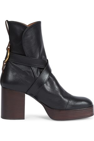Chloé Women's Izzie Leather Platform Ankle Boots - - Size 8
