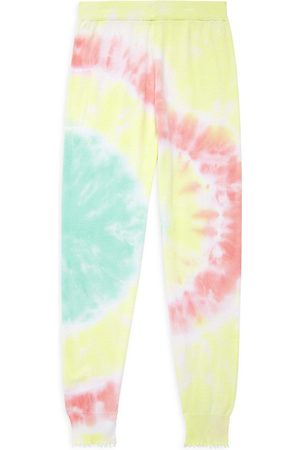 MINNIE ROSE Boys Neckties - Little Girl's and Girl's Tie Dye Frayed Joggers - Sand Combo - Size 14