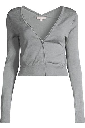 REBECCA TAYLOR Women's Barely There Cardigan - Glacier - Size Large