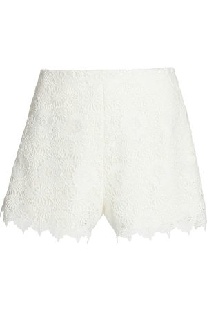 THEIA Women's Scarlett Lace Shorts - Ivory - Size 8