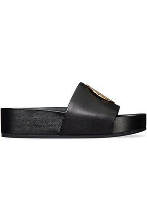 Tory Burch Women's Patos Leather Platform Slide Sandals - Perfect - Size 8