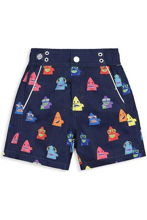 Andy & Evan Boys Swim Shorts - Little Boy's Shark Swim Shorts - Multi - Size 7