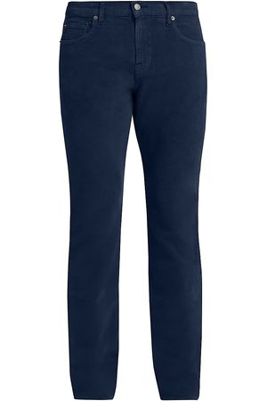 7 for all Mankind Men Straight Leg Pants - Men's Moleskin Slimmy Straight-Fit Pants - Navy - Size 40