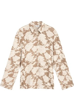Leset Women's Lori Floral Button-Up Shirt - - Size Small