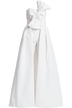 Alexia Maria Women's Convertible Silk Faille Overskirt Jumpsuit - - Size 6