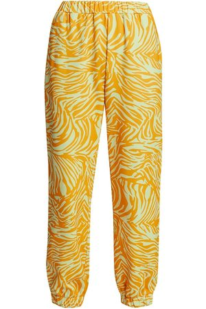 STINE GOYA Women's Joy Zaza Zebra-Print Track Pants - Zebra - Size Small