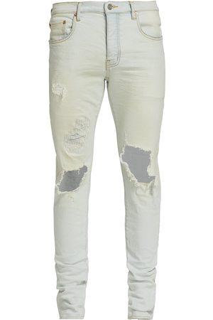 Purple Brand Men Skinny - Men's P001 Blowout Skinny Jeans - Super Light Indigo Blowout - Size 40