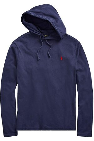 Polo Ralph Lauren Men Polo Shirts - Men's Jersey Hooded T-Shirt - Newport Navy - Size Large