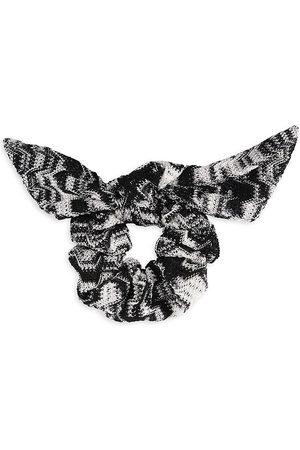 Missoni Women's Woven Zigzag Bow Scrunchie