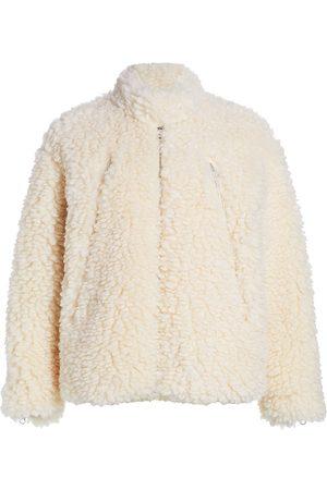 MM6 MAISON MARGIELA Women's Faux-Fur Sports Jacket - Off - Size 0