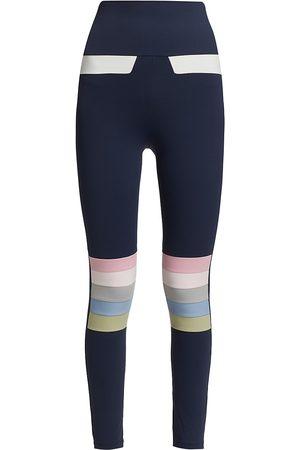 Port De Bras Women's Moto Rainbow Leggings - Navy Pastel - Size Small