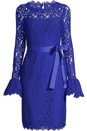Shani Women Evening dresses - Women's Lace Bell-Sleeve Sheath Dress - - Size 8