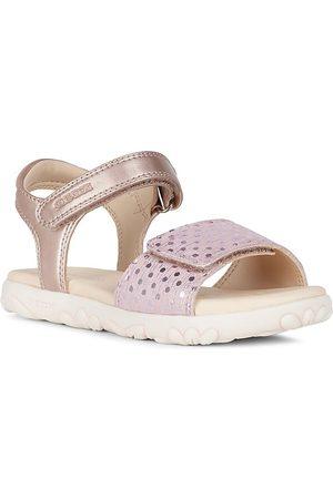 Geox Girls Sandals - Little Girl's Haiti Metallic Strap Sandals - Antique Rose - Size 13 (Child)