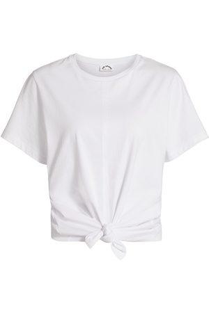 The Upside Women Sports T-shirts - Women's Split Tie T-Shirt - - Size Large