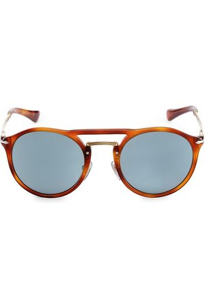 Persol Men's 50MM Round Sunglasses - Light