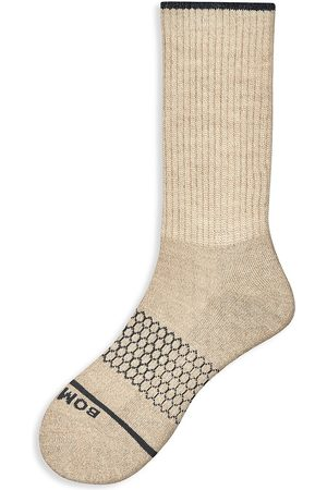 BOMBAS Women's Merino Calf Socks - Oatmeal - Size Small