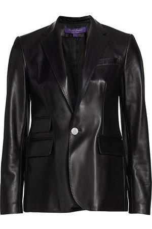 Ralph Lauren Women's Icon Nappa Leather Jacket - - Size 8