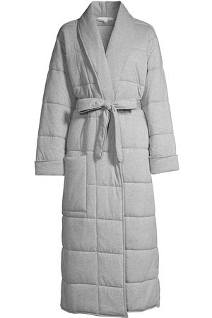 SKIN Women's Sierra Quilted Robe - Heather Grey - Size Medium