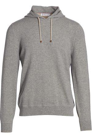 Brunello Cucinelli Men's Cashmere Hoodie - Grey - Size 44