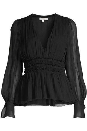 REBECCA TAYLOR Women's Silk Chiffon Blouse - - Size 2