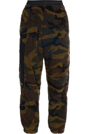 VERSACE Men's Camouflage Faux Fur Logo Track Pants - Camouflage - Size 32