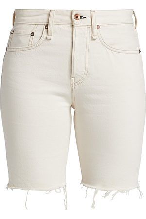 RAG&BONE Women's Maya High-Rise Walking Shorts - Ecru - Size 30