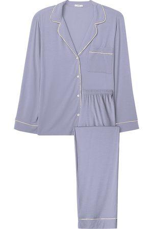 Eberjey Women Pajamas - Women's Gisele Long Pajama Set - Light Orchid Ivory - Size XS