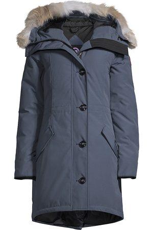 Canada Goose Women Parkas - Women's Rossclair Fur Trim Down Parka - Storm - Size XL