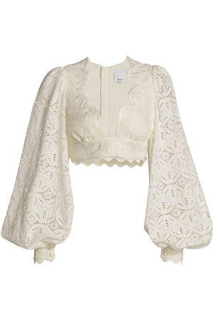 Acler Women's Atlantic Blouson-Sleeve Top - Natural - Size 10