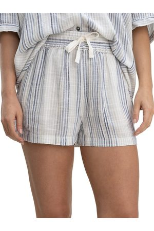 Splendid Women Sports Shorts - Women's Pier Stripe Shorts - Sky Multi - Size Small
