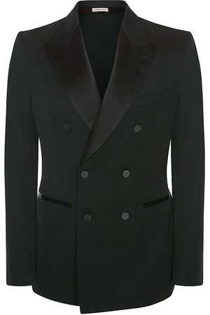 Alexander McQueen Men's Double-Breasted Graffiti Logo Jacket - - Size 42
