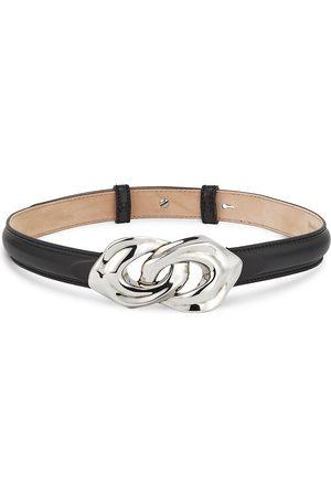 Alexander McQueen Women's Sculptural Link Leather Belt - - Size Small