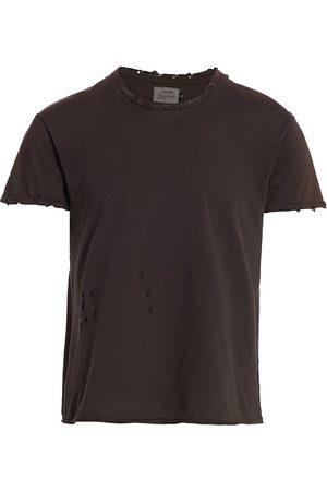 R13 Men T-shirts - Men's Destroyed T-Shirt - Washed - Size Large