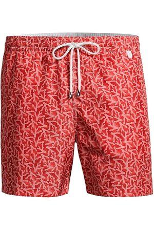 ISAIA Men Swim Shorts - Men's Coral-Print Swim Trunks - - Size XL