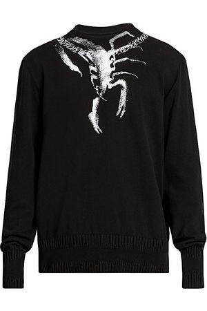 Givenchy Men's Scorpio-Print Crew Sweater - - Size XL