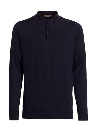 Loro Piana Men Polo Shirts - Men's Wish Polo - Total Eclipse - Size 48