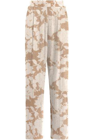 Leset Women's Lori Floral Straight Pants - - Size Medium