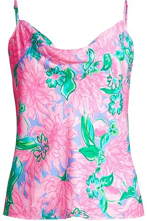 Lilly Pulitzer Women Camisoles - Women's Bobbie Floral Print Camisole - Blossom Try Your Zest - Size Large