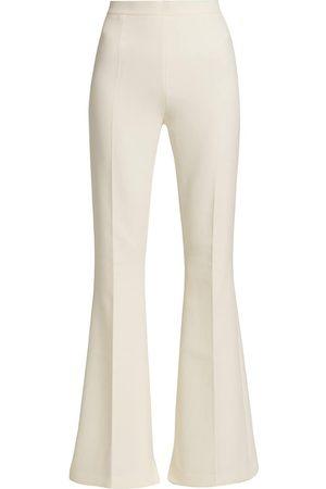 Safiyaa Women Wide Leg Pants - Women's Halluana Flared Side Zip Pants - Ivory - Size 8