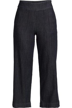 NIC+ZOE Women Pants - Women's Woven Cropped Pants - Midnight Wash - Size 10