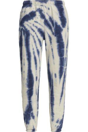 Les Tien Women Sports Pants - Women's Tie-Dye Classic Sweatpants - Navy Ivory Tie Dye - Size Small