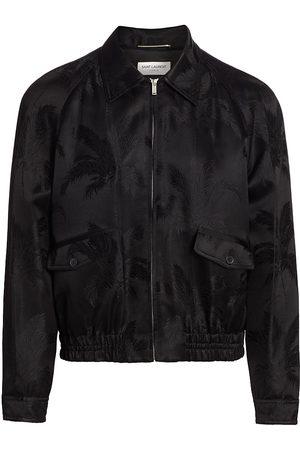 Saint Laurent Men's Teddy Raglan-Sleeve Zip Jacket - Noir - Size 36
