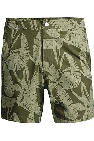 ONIA Men Swim Shorts - Men's Calder Printed Swim Trunks - Olive - Size Medium