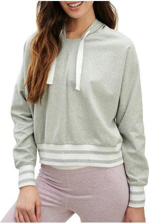 Splendid Women Hoodies - Women's Shea Stripe Hoodie - Light Heather Grey - Size XS