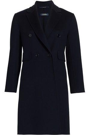 Max Mara Women's Laura Double-Breasted Virgin Wool Coat - Ultramarine - Size 0
